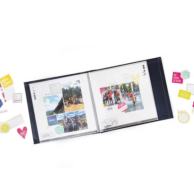Storyline Album à 3 anneaux 22 x 28 cm Feuilles de palmier