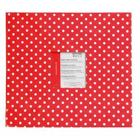 Album à vis - rouge à pois - 30 x 30 cm
