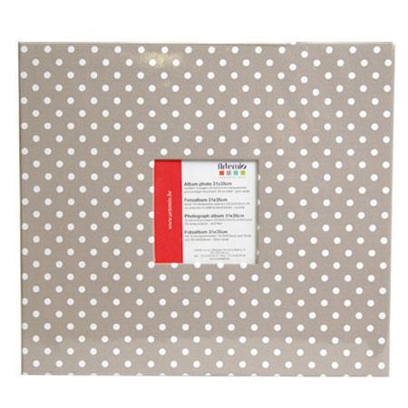Album à vis - beige à pois - 30 x 30 cm