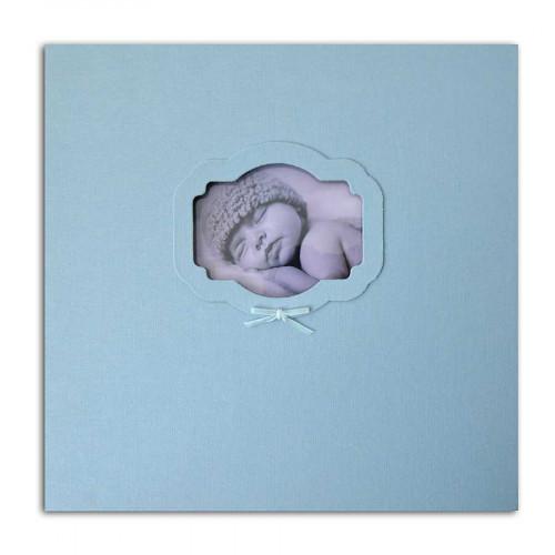 Album à vis - Naissance - bleu - 30 x 30 cm