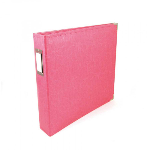 Classic Leather - Album à 3 anneaux 30 x 30 cm - rose
