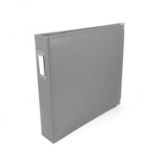 Classic Leather - Album à 3 anneaux 30 x 30 cm - gris