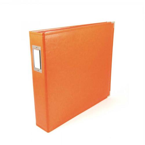 Classic Leather - Album à 3 anneaux 30 x 30 cm - orange