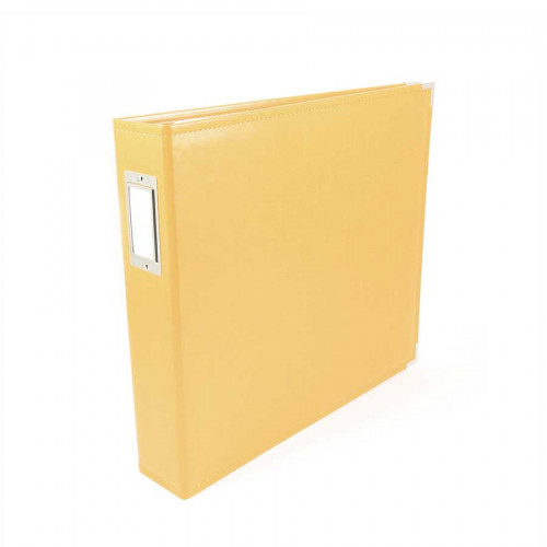 Classic Leather - Album à 3 anneaux 30 x 30 cm - jaune bouton d'or
