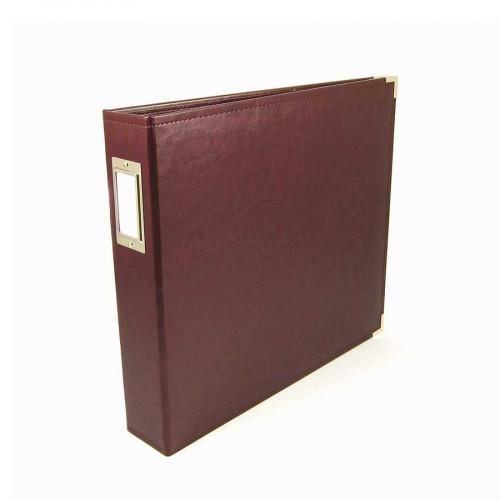 Classic Leather - Album à 3 anneaux 30 x 30 cm - cannelle