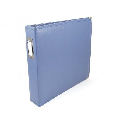 Classic Leather - Album à 3 anneaux 30 x 30 cm - bleu