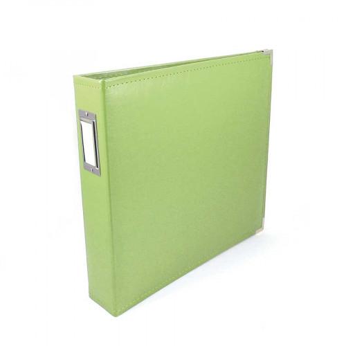 Classic Leather - Album à 3 anneaux 30 x 30 cm - vert