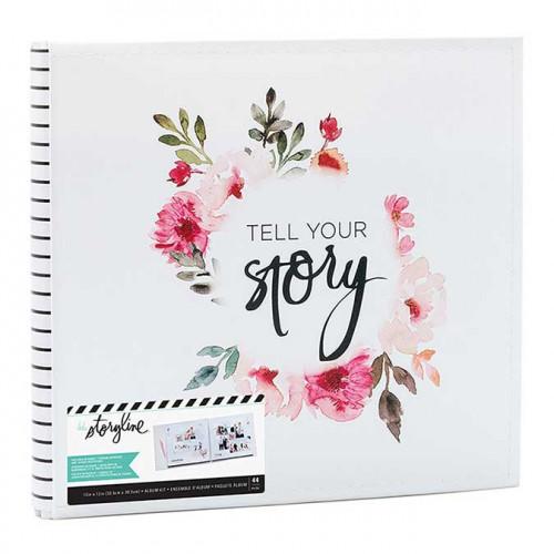 Storyline Album relié 30 x 30 cm Couronne de fleurs