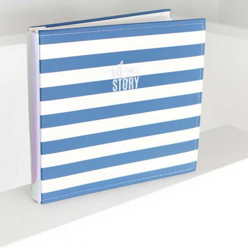 Storyline Album relié 30 x 30 cm Rayures bleues