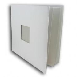 Album à vis à customiser - blanc avec fenêtre - 30 x 30 cm