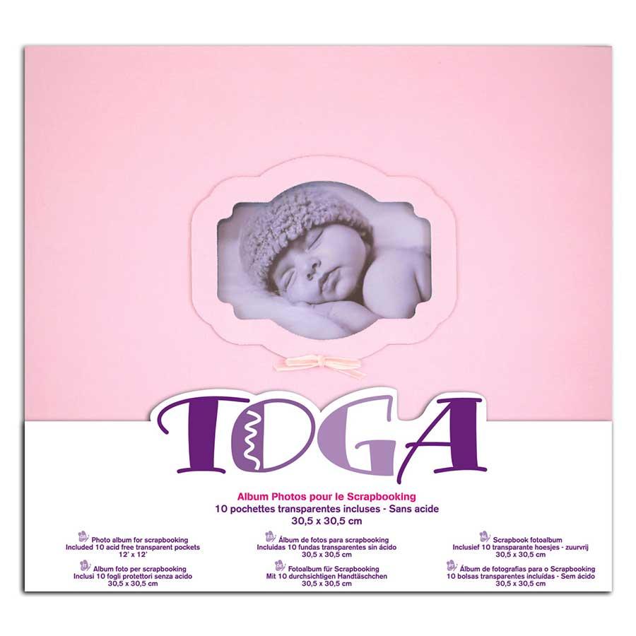 Album à vis - Naissance - rose - 30 x 30 cm