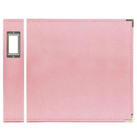 Classic Leather - Album à 3 anneaux 12 x 12 - rose