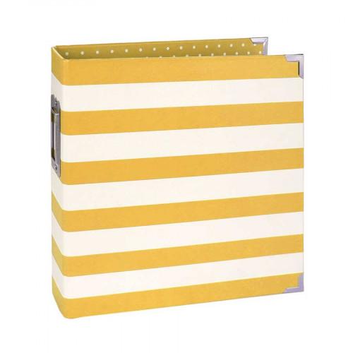 Album SN@P! 15 x 20 cm - rayé jaune / blanc