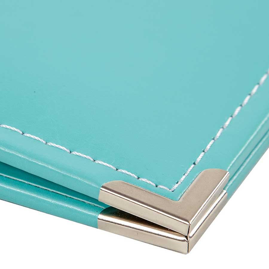 Album SN@P! 15 x 20 cm - cuir turquoise