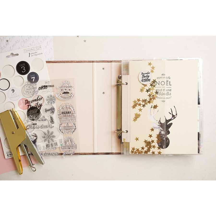Album Classeur Wood à anneaux - 15 x 20 cm