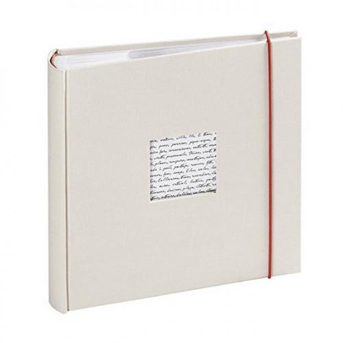 Album photos traditionnel Linea à fenêtre 60 pages - Blanc cassé