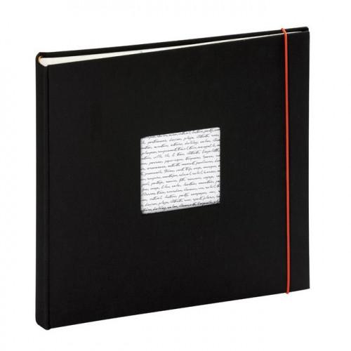 Album photos traditionnel Linea à fenêtre 60 pages - Noir