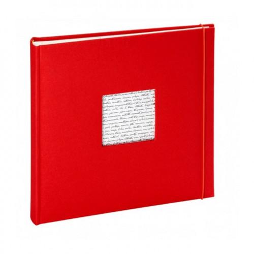 Album photos traditionnel Linea à fenêtre 60 pages - Rouge