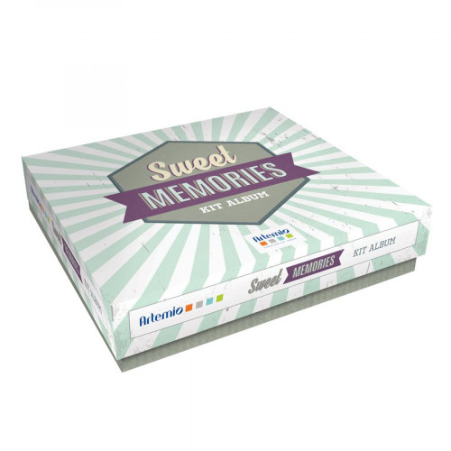 Kit de Scrapbooking - Sweet Memories - 20 x 20 cm