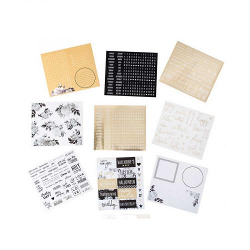 Stickers pour planner Kraft - 1129 pcs