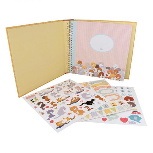 Kit album Family Friends Chats - 20 x 20 cm