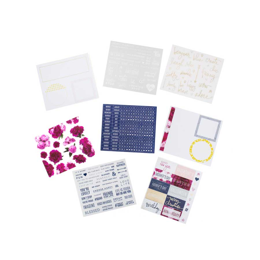 Stickers pour planner Pivoine - 1128 pcs