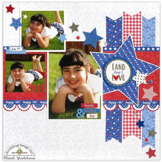 Yankee Doodle - Kit de collection - 30,5 x 30,5 cm