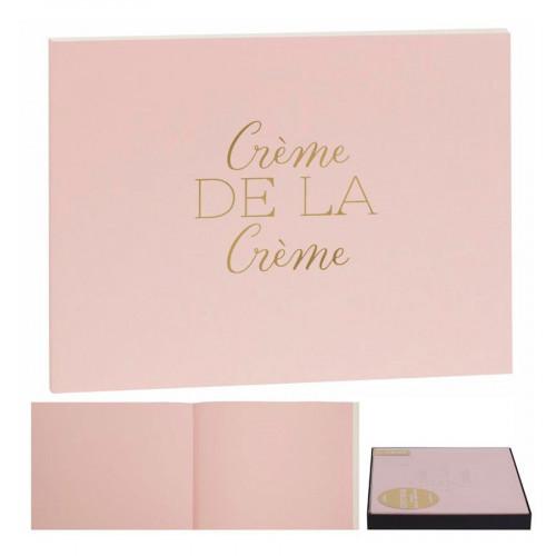 Livre d'Or rose Crème de la crème - 22,5 x 17,5 cm