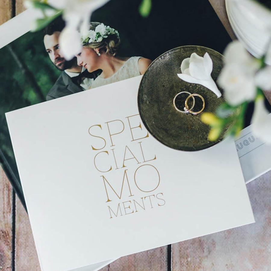 Livre d'Or blanc Special Moments - 22,5 x 17,5 cm