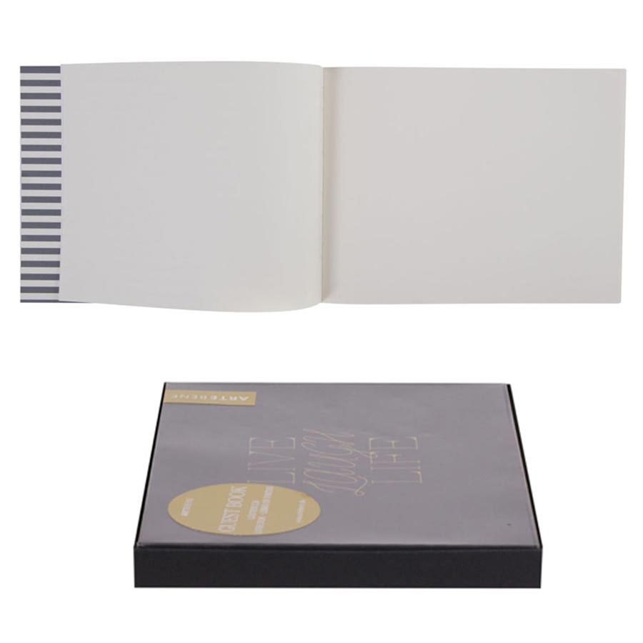 Livre d'Or noir Live Laugh Life - 22,5 x 17,5 cm