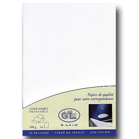 Vergé de France - 50 feuilles A4 - extra blanc