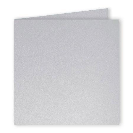 Pollen - 25 cartes doubles carrées 13.5 x 13.5 cm - Argent