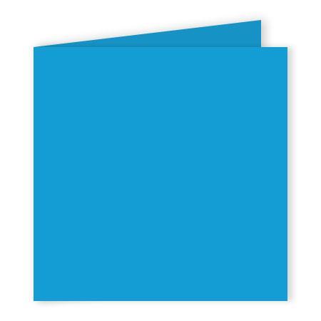 Pollen - 25 cartes doubles carrées 13.5 x 13.5 cm - Bleu turquoise
