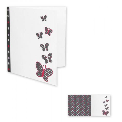 Pollen - 10 cartes doubles carrées 13,5 x 13,5 cm - Blanc galet