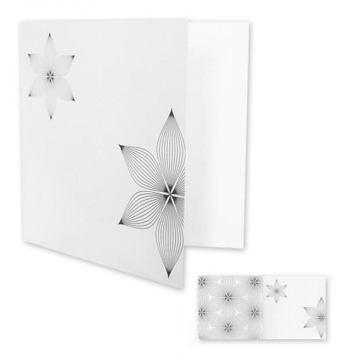 Pollen - 10 cartes doubles carrées 16 x 16 cm - Fleur 1