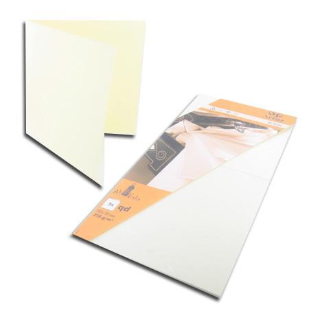 Ali Baba - 5 cartes doubles carrées 15.5 x 15.5 cm - jaune clair