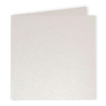 Pollen - 25 cartes doubles carrées 13.5 x 13.5 cm - Blanc irisé