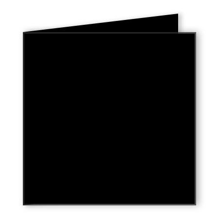Pollen - 25 cartes doubles carrées 16 x 16 cm - Noir