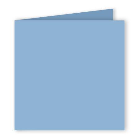 Pollen - 25 cartes doubles carrées 16 x 16 cm - Bleu lavande