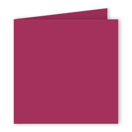 Pollen - 25 cartes doubles carrées 13.5 x 13.5 cm - Framboise