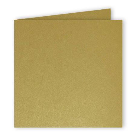 Pollen - 25 cartes doubles carrées 13.5 x 13.5 cm - Or