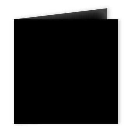 Pollen - 25 cartes doubles carrées 13.5 x 13.5 cm - Noir