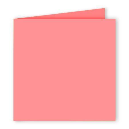 Pollen - 25 cartes doubles carrées 13.5 x 13.5 cm - Litchi