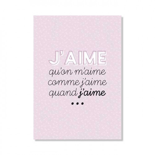 Carte postale - J'aime qu'on m'aime
