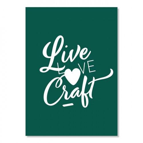 Carte postale - Live Love Craft