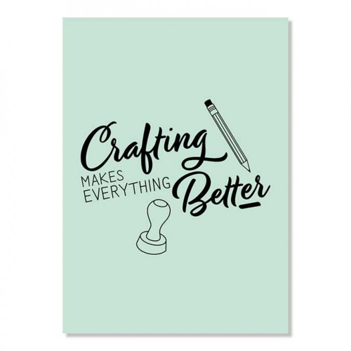 Carte postale - Crafting makes…