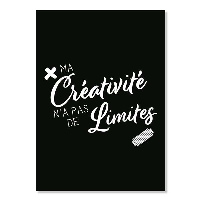 Carte postale - Ma créativité n'a pas de…