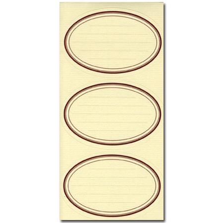Vergé de France - Etiquettes - Ovales sépia