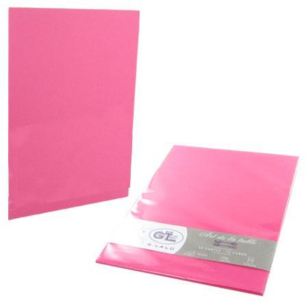 Cartes pour menus - 16,5 x 12 cm - Fuchsia
