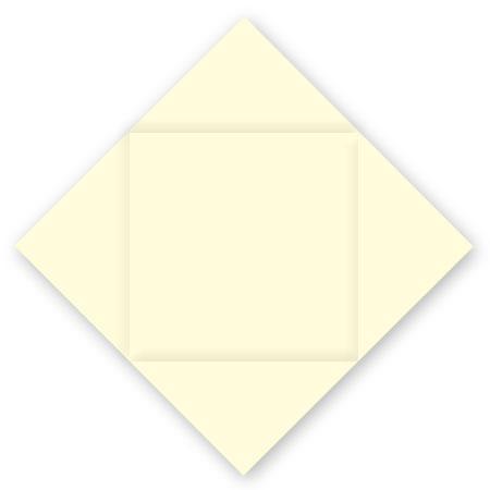Pollen - 25 cartes carrées à rainage losange 16 x 16 cm - Ivoire